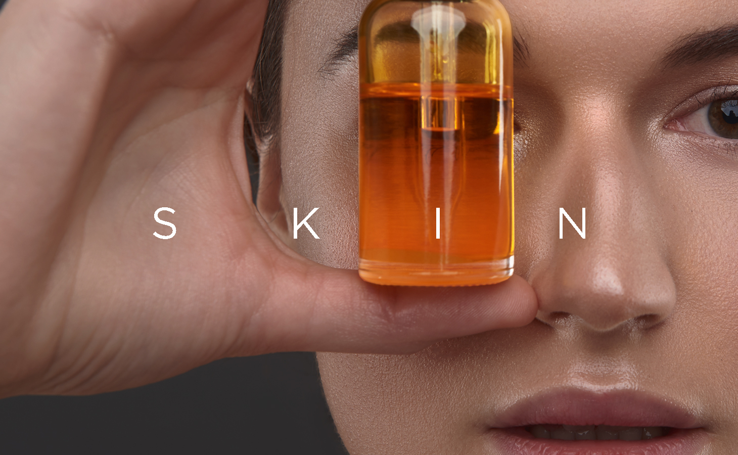 Healthy skin with carrier oils.